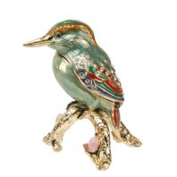 Treasured Trinkets - Turquoise Woodpecker on Branch